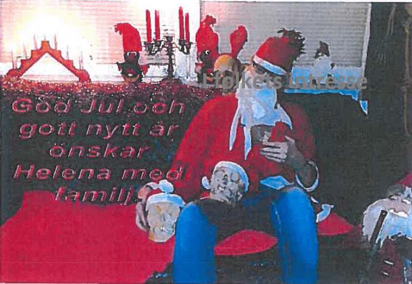 Julkort Helena vann i Hovrätten